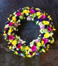 Sympathy Flowers Wreath-032