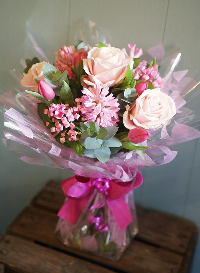 In The Pink Bouquet The Cornflower Floral Design