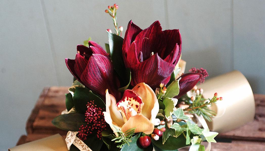 Christmas floral cracker gift - The Cornflower floral design Warminster
