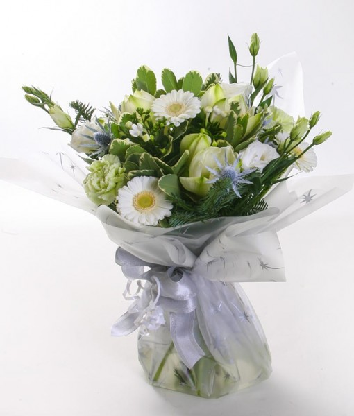 White Christmas Handtied Bouquet
