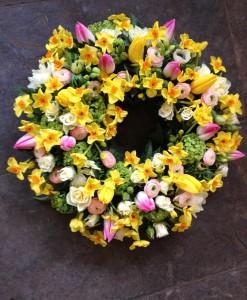 Sympathy Flowers Spring Wreath-026