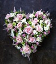 Pink Heart Tribute Sympathy Flowers