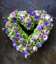 Lilac & green open heart tribute